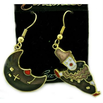 Design Enamel Hook Earrings SE03